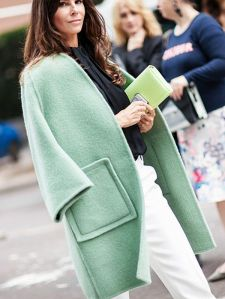Oversized coat in mint